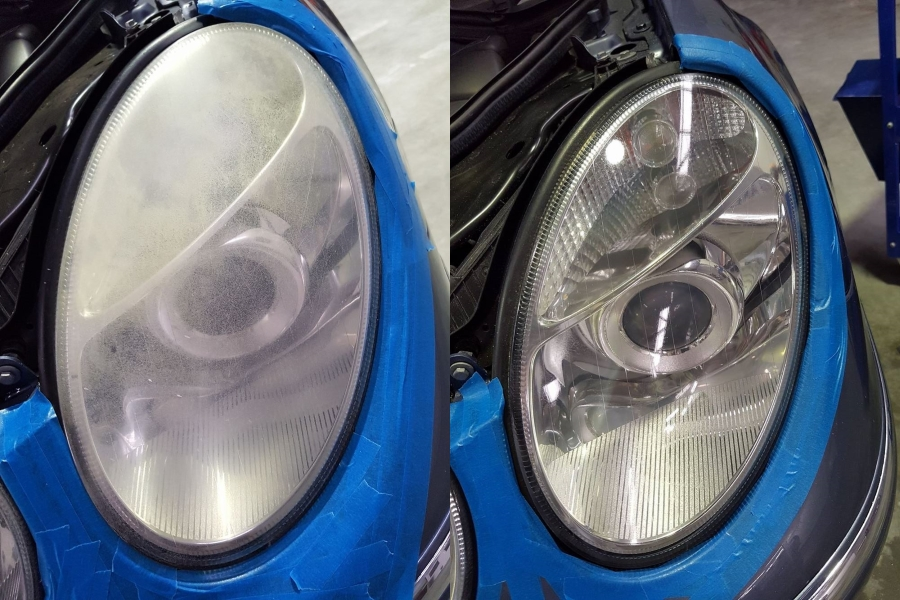 Headlight - Before and After - With Clear Renew