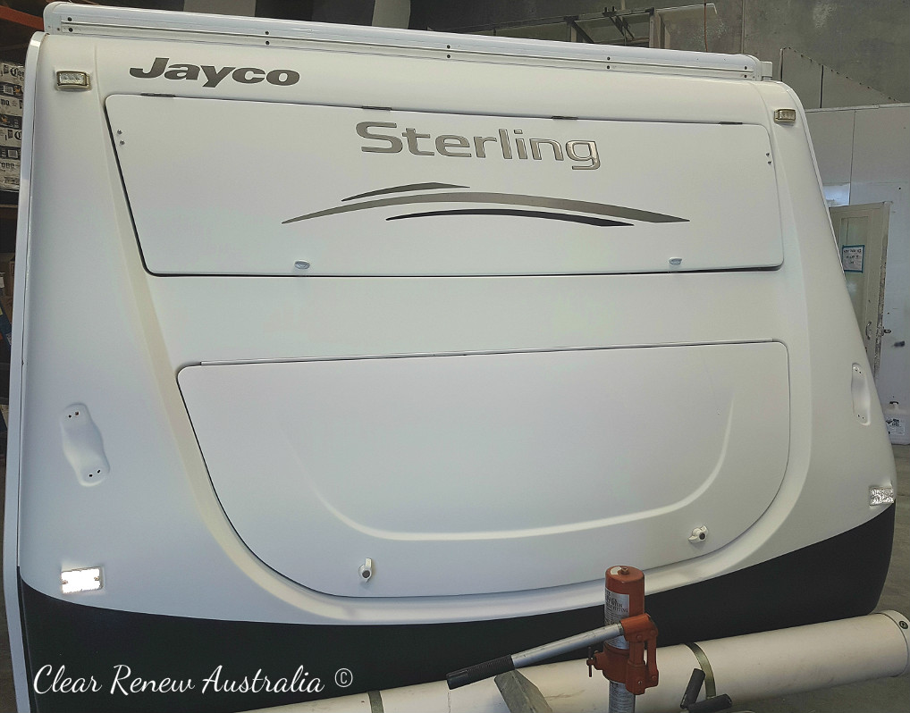 Jayco Stirling looking very flat and chalky.