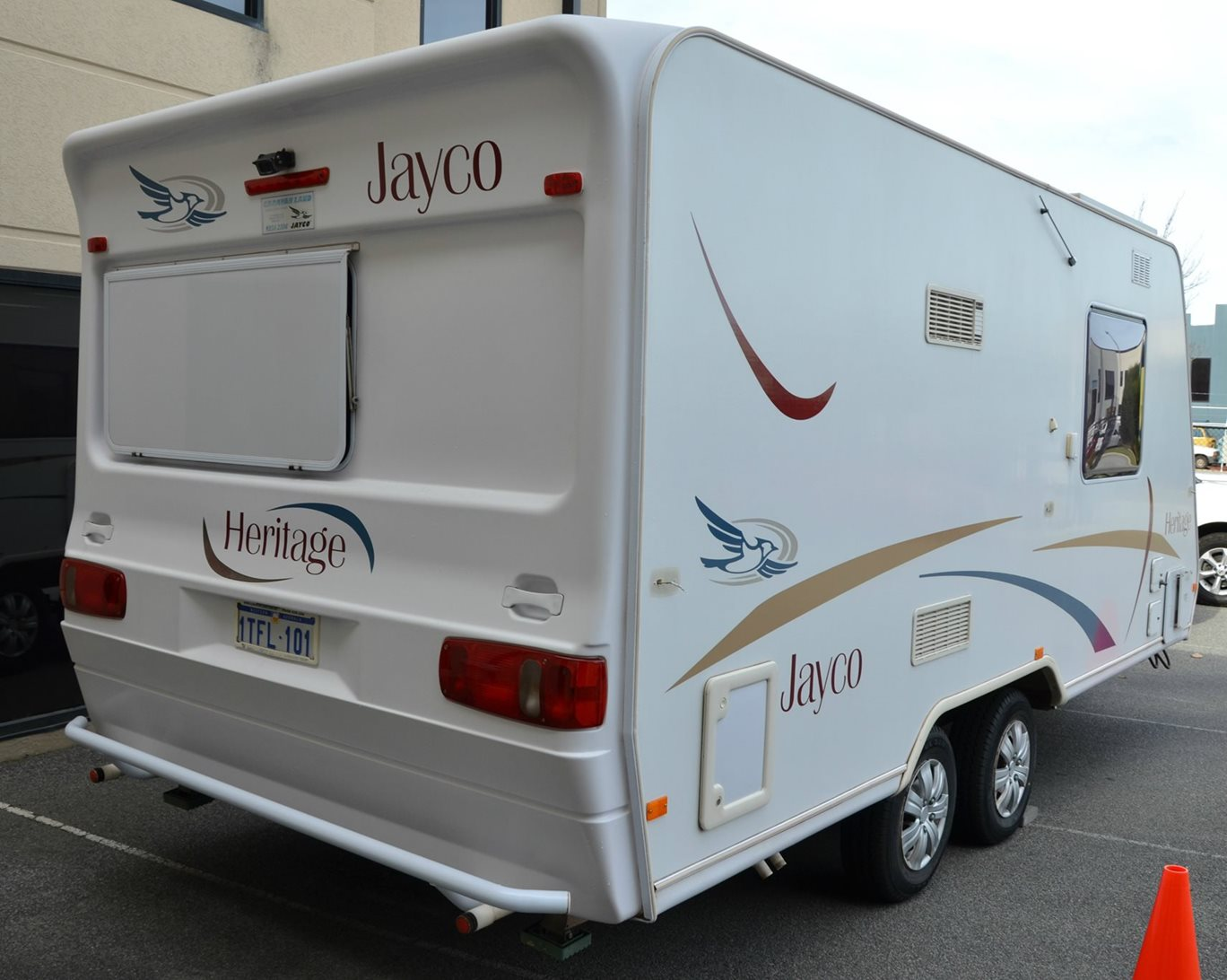 Dull & faded Jayco Heritage caravan